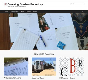 Crossing Borders Repertory Home page