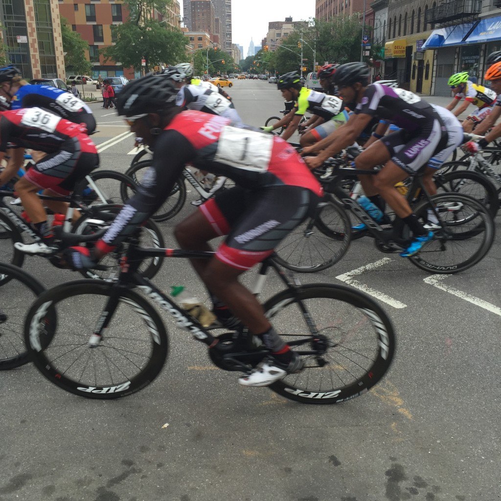 Racing past 5th Ave on 120 Street