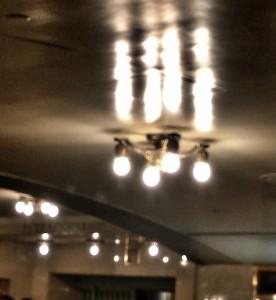 Ceiling light fixture in a Grand Central Passageway