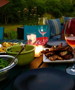 Dinner alfresco at Thistledew Farm