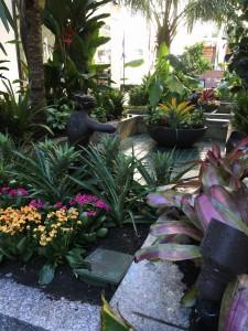 Garden view in Rockefeller Center