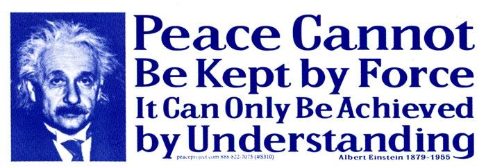 Albert Einstein quote on peace
