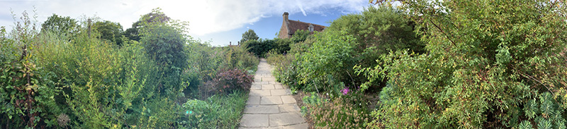 panormic view of Sissinghurst Castle Garden