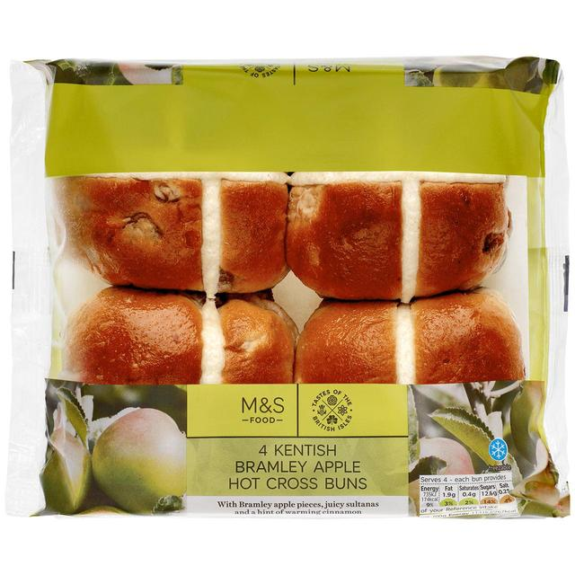 Kentish Bramley apple hot cross buns