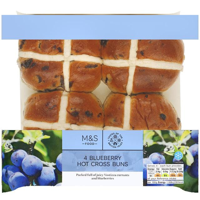Blueberry hot cross buns