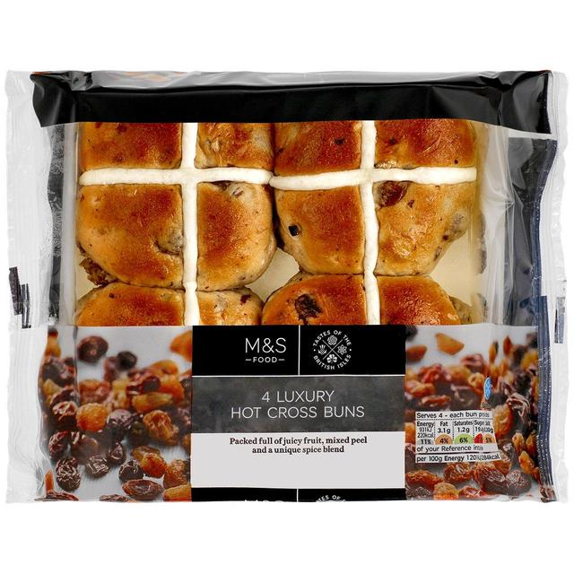 Luxury hot cross buns