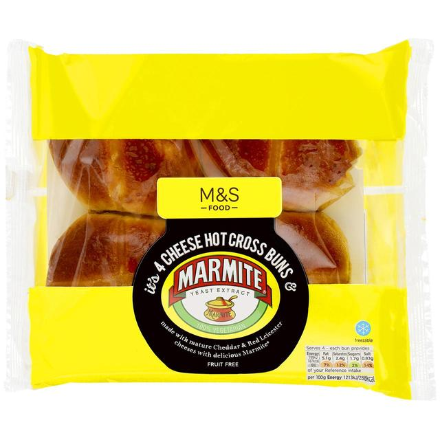 Marmite cheese hot cross buns image