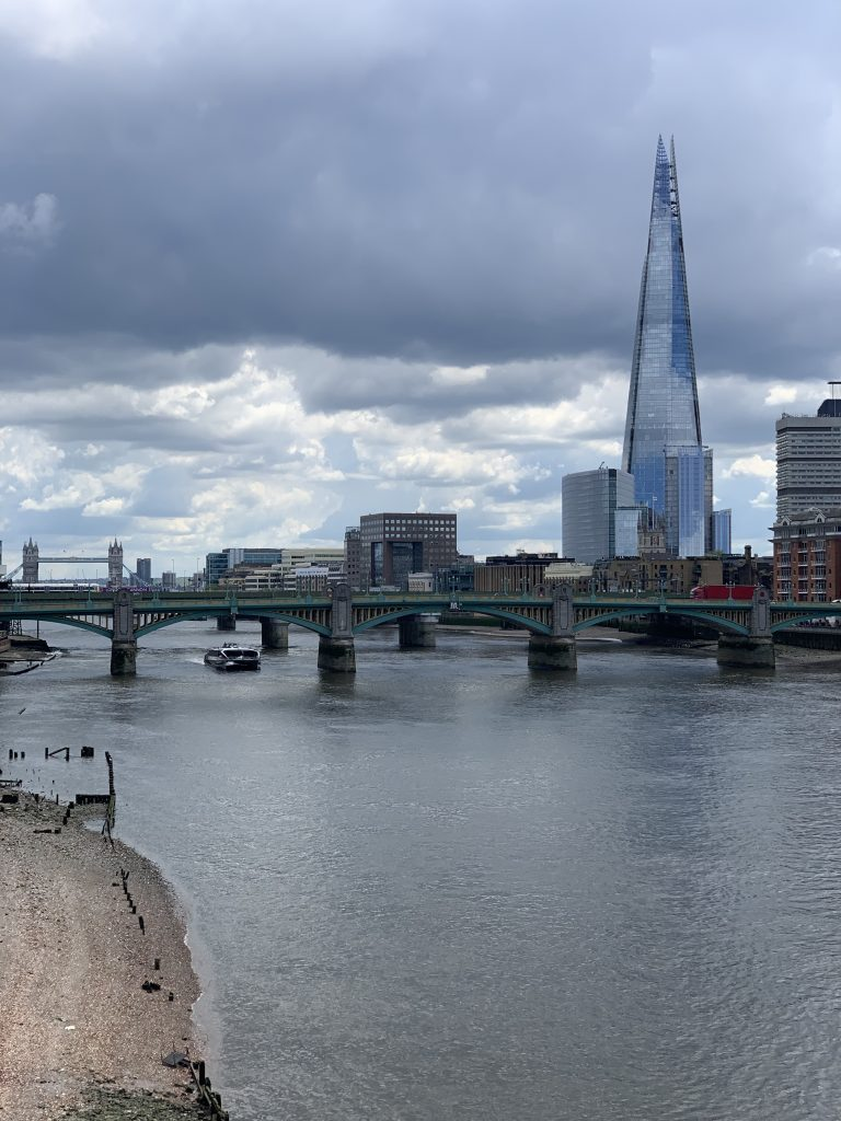 View of the London Shard from the London Millennium Footbridge